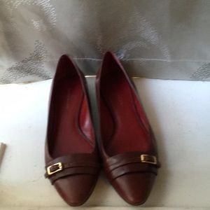 Banana Republic Red leather flats❤️